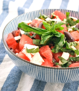 Watermelon Feta Salad with Basalmic Vinegarette